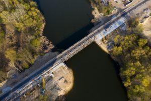 ремонт на мосту в Климентовому