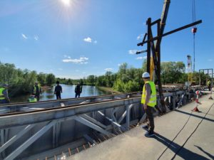 реконструкція мосту в Климентово