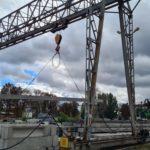 Виготовляємо 16-метрові палі для будівництва моста в с.Катеринівка